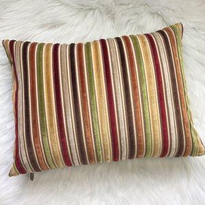 Pier 1 Fall velvet stripe rectangle throw pillow